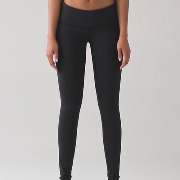 2eab3454ed809e lululemon athletica Pants - LULULEMON Wunder Under black luon mid-rise  legging
